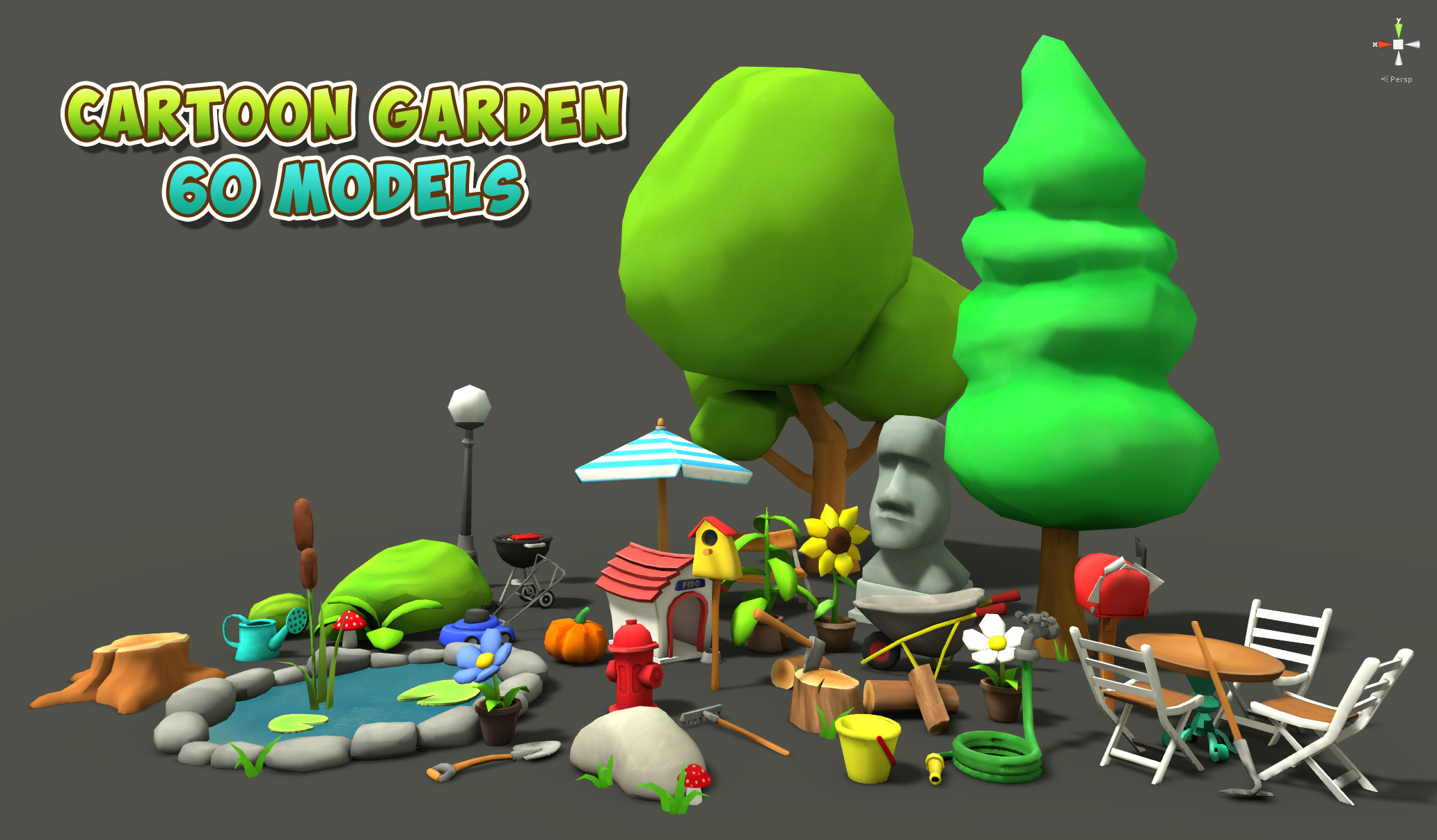 Unity Asset 9 Cartoon Characters : Cartoon garden assets unity forum